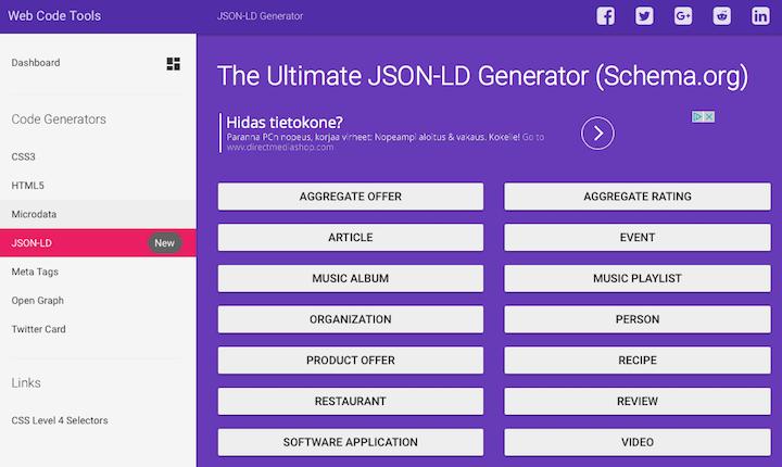 JSON-LD Generator
